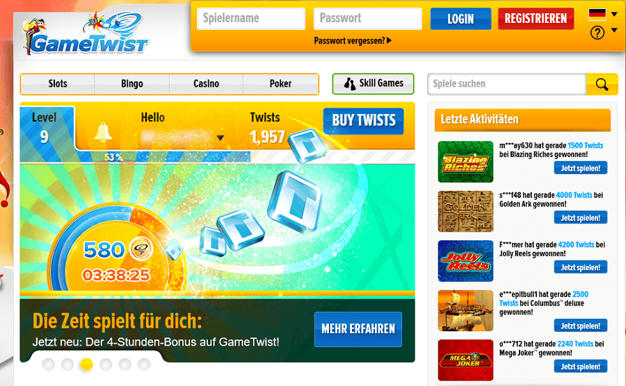 GameTwist Pokerspiele
